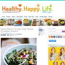 Spicy Peanut Ginger Kale Salad. Cravable Greens.