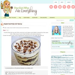 Peanut Butter Cup Trifle and the giveaway winner....