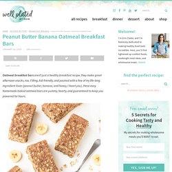 Peanut Butter Banana Honey Oatmeal Breakfast Bars