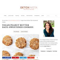 Vegan Peanut Butter Date-Sweetened Cookies