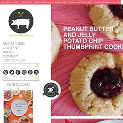 Peanut Butter & Jelly Potato Chip Thumbprint Cookie recipe