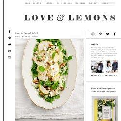 Pear & Fennel Salad Recipe