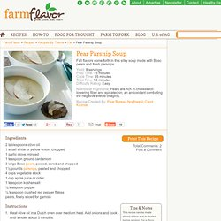 Pear Parsnip Soup