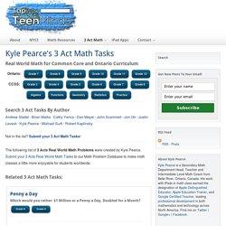 Kyle Pearce 3 Acts Real World Math Tasks