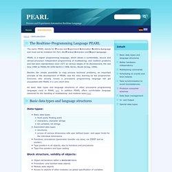PEARL, die Echtzeitprogrammiersprache
