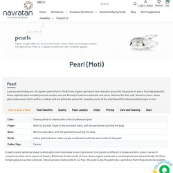 Buy Pearl (Moti) Gemstone Online – Navratan.com