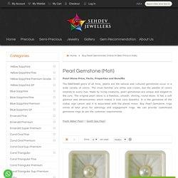 Buy Pearl Gemstones Online At Best Price in India