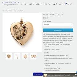 Pearl Heart Locket - Luna & Stella
