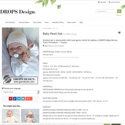Baby Pearl Hat / DROPS Baby 33-17 - Free knitting patterns by DROPS Design