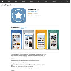 Pearltrees for iPhone, iPod touch and iPad on the iTunes App Store
