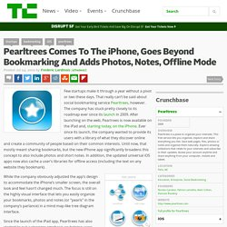 Pearltrees Comes To The iPhone, Goes Beyond Bookmarking And Adds Photos, Notes, Offline Mode