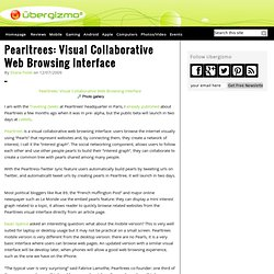 Pearltrees: Visual Collaborative Web Browsing Interface