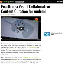 Pearltrees: Visual Collaborative Content Curation for Android