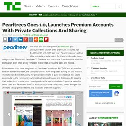 Pearltrees Goes 1.0, Launches Premium Accounts With Private Collections And Sharing