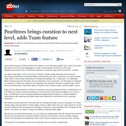 Pearltrees brings curation to next level, adds Team feature