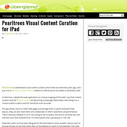 Pearltrees Visual Content Curation for iPad