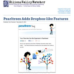 Pearltrees Adds Dropbox-like Features -SVW