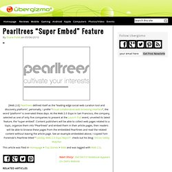 "Pearltrees ""Super Embed"" Feature"