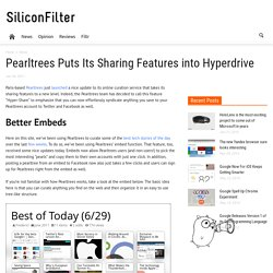 Pearltrees Puts Its Sharing Features into Hyperdrive