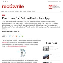 Pearltrees for iPad is a Must-Have App