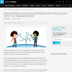 Pearltrees launches Android app, makes leap into file management
