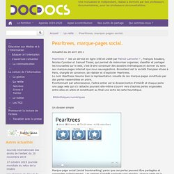 Pearltrees, marque-pages social.