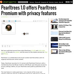 Pearltrees 1.0 offers Pearltrees Premium with privacy features