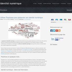 Utiliser Pearltrees pour présenter son identité numérique
