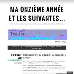 Storify twitter pearltrees tumblr TICE ICT pédagogie twittclasse Laurence Juin