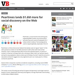 Pearltrees lands $1.6M more for social discovery on the Web | Ve