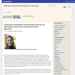Pearson – Always ESL Newsletter