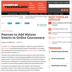 Pearson to Add Watson Smarts to Online Courseware