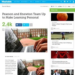 Pearson and Knewton Team Up to Make Learning Personal