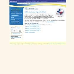 Prentice Hall Online TAKS Practice