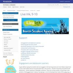 Pearson School Canada: Live Ink, 9-10