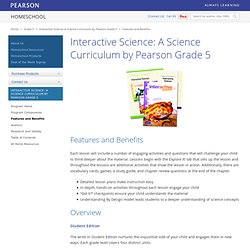 Interactive Science: A Science Curriculum by Pearson Grade 5