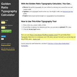 s Golden Ratio Typography Calculator