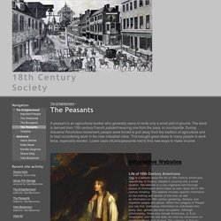 The Peasants - 18th Century Society