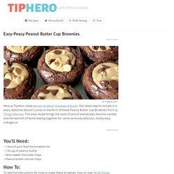 Easy-Peasy Peanut Butter Cup Brownies