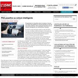 PSA peaufine sa voiture intelligente