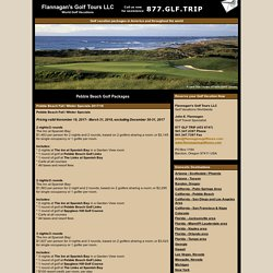 Pebble Beach Golf Packages & Vacations