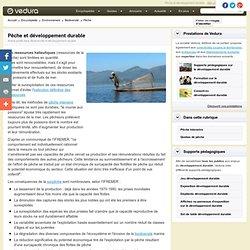 Pêche et développement durable