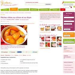 Pêches rôties au citron et au thym