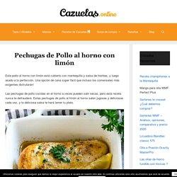 Pechugas de Pollo al Horno con Limón -【Cazuelas Online】