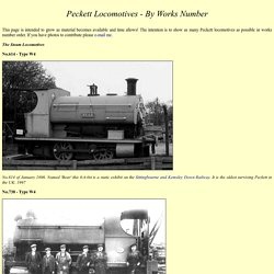 Peckett Locomotives - By Works Number
