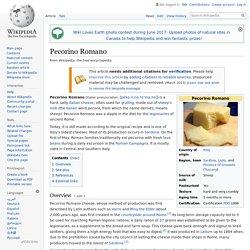 Pecorino Romano - Wikipedia