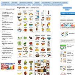 Карточки pecs: продукты