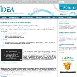 IDEA - PédagInnov : un modèle de classe inversée