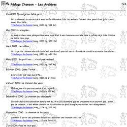 Pédago Chanson Archives