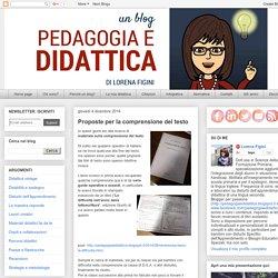 Pedagogia e didattica: un blog: Proposte per la comprensione del testo